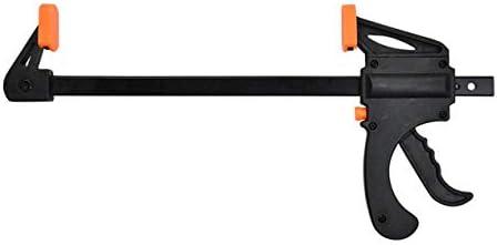 4インチ木製作業バークランプクイックラチェットリリーススピードスクイーズFタイプクリップ手動スプレッダーガジェットDIYハンドツール-オレンジ&ブラック