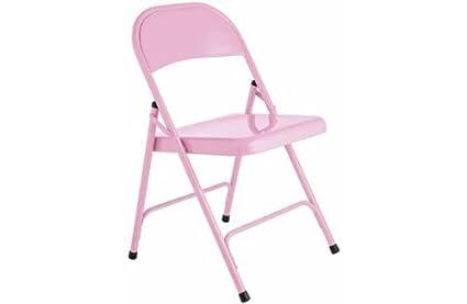 Hábitat macadán silla plegable de metal - Rosa.: Amazon.es ...