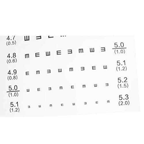 2973882ddc0 Amazon.com  Healifty Standard Eye Chart Waterproof Vision Test Chart for  Home School  Health   Personal Care