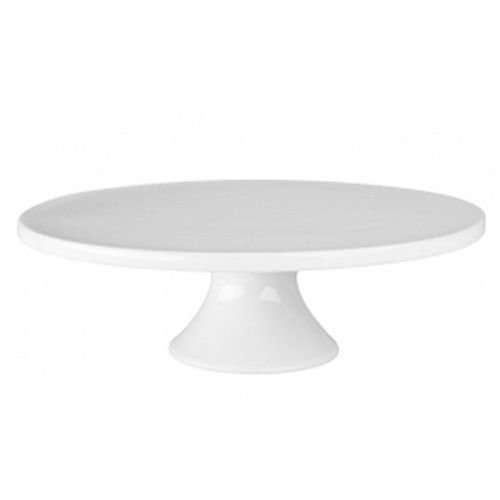 BIA Cordon Bleu Small Round Porcelain Cake Stand 8-1/2-Inch by 3-3/4-Inch, - Cake Porcelain Plate