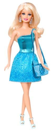 Barbie Glitz Doll, Blue Dress