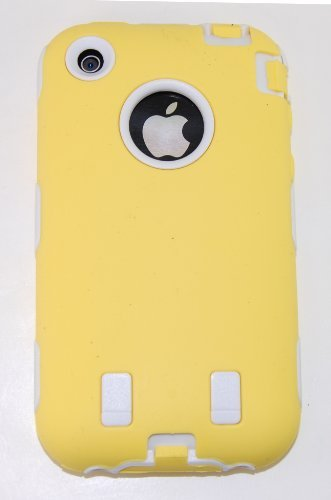 Body Armor for iPhone 3G / 3GS - Yellow & White