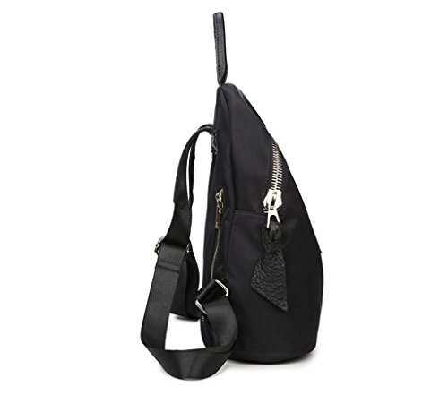 Black Leisure Student Bag Beibao Shoulder 0 Cloth 7kg Women's Schoolbag Travel Oxford Shopping Double AffqPa