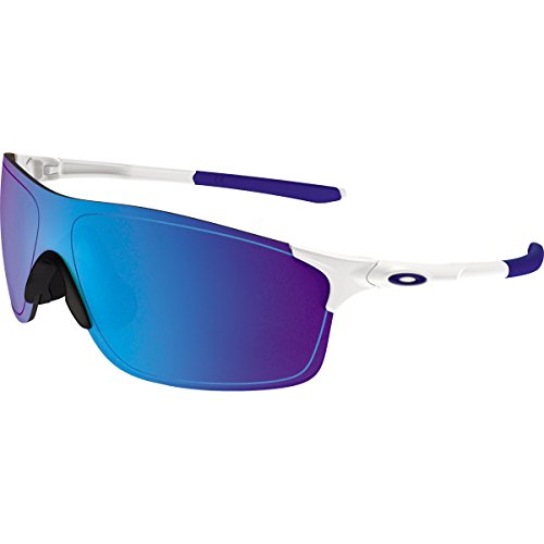 Oakley Men's Evzero Pitch Non-Polarized Iridium Rectangular Sunglasses, Polished White, 38 - Sunglasses Oakley White