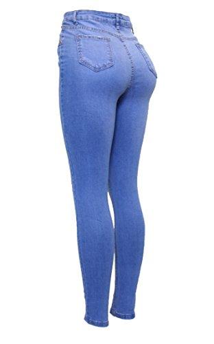 Fashion Barfly Skinny Blue Femme B33 Jeans dwq6qT