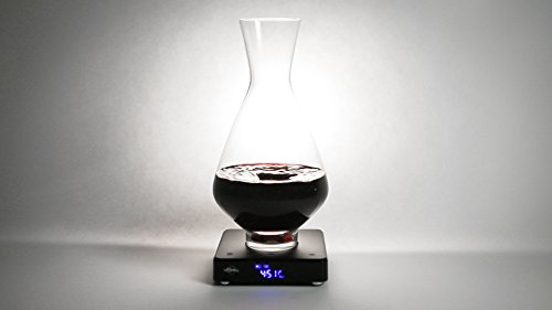 vSpin / Spiegelau Active Wine Decanter - Hand Assembled 100% Lead-free German Crystal – Electric Wine Aerator set – Original Patented Decanting Carafe – Elegant Wine Gift Luxury Wine accessories by VSPIN (Image #8)'