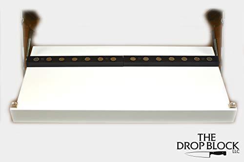 Under Cabinet Steak & Paring Knife Storage Unit (White) by The Drop Block (Image #1)