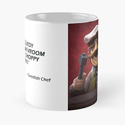 Muppets Chef Swedish Leatherface - 11 Oz Coffee Mugs Unique Ceramic Novelty Cup, The Best Gift For Halloween.