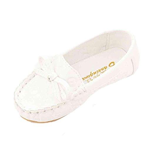 Tefamore Sandalias Zapatos de Cuero Soltero Recién Nacido Suela Blanda Antideslizante Para Niños Pequeños Bebé Sneakers Primavera y Verano Blanco