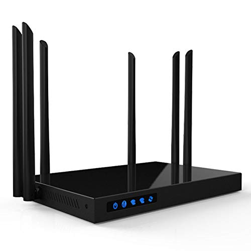 CAPTIANKN WiFi Dual-Band High-Power Gigabit Wireless Router, Home Wireless Internet Router, 1750Mbps, 256MB High-Speed Memory, 16MB Flash Memory,UKPlug