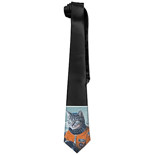 [Photo Novelty Space Cat Astronaut Fashion Necktie For Women] (Blue Ghost Pill Costume)