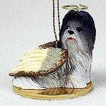 Shih Tzu Gray Pet Angel Ornament