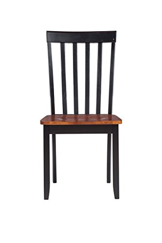 Boraam 21031 Bloomington Dining Chair, Black/Cherry, Set of - Chair Pub Slat Back