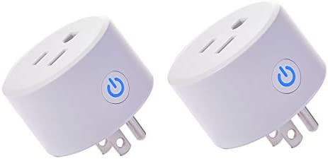 Mini Wifi Outlet Smart Plug Compatible with Alexa, Google Home IFTTT, Remote Control Your Home Appliances from Anywhere,Only Supports 2.4GHz Network 2 pieces
