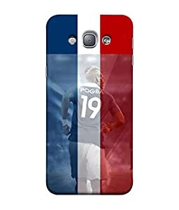 ColorKing Football Pogba France 02 Multicolor shell case cover for Samsung A8