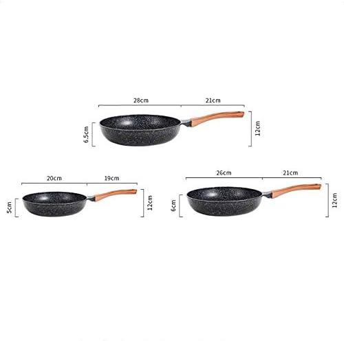 ZCJUX Wok antiadhésif en aluminium moulé sous pression for lave-vaisselle, résistant aux rayures, woks sans induction à induction (Size : S)