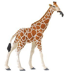 Safari Ltd  Wild Safari Wildlife Reticulated Giraffe Finely Sculpted Leaf