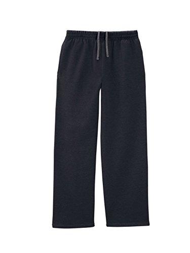 Fruit of the Loom Men's Elastic Waistband Fleece Pant, Black, XX-Large