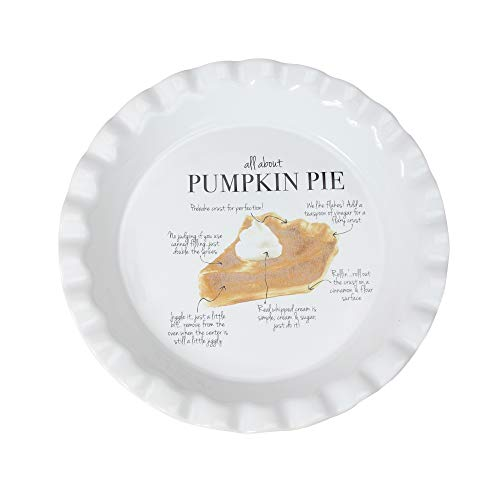 "9"" Ivory""All About Pumpkin Pie"" Autumn Thanksgiving Plate"