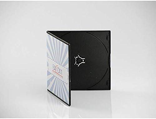 100 Cajas para 1 CD Slim, PP Negro, Qtecx: Amazon.es: Electrónica