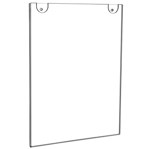 NIUBEE 6 Pack 8x10 Acrylic Sign Holder, Clear Wall Mount Sign Holder Plastic Photo Frames for Paper Signage, Bonus with 3M Tape and Mounting Screws (8x10 Wall Poster)