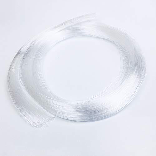 Raysell 0.75mm X 2m X20pcs PMMA Plastic Fiber Optic Cable End Grow Led Light ()