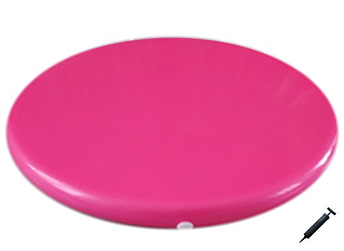 AppleRound Jr. Inflatable Seat Cushion with Pump, 31cm/12in Diameter for Kids, Pink