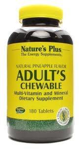 Nature's Plus - Adult's Multi-Vitamin Chewable - Pineapple Flavor, 180 (Adult Multi Vitamin)