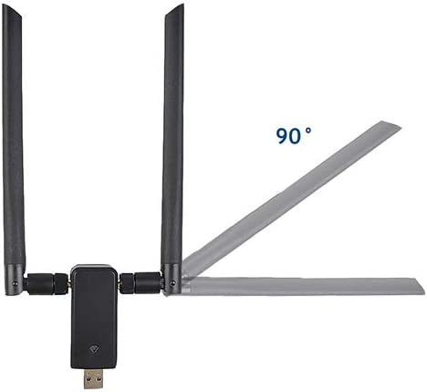Leah Daly 2 Pcs Adapter 1200Mbps Wireless Network Adapter Dual-Band with Built in Driver Dual Band Wireless WiFi Adapter