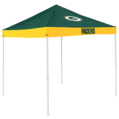 Logo Brands NFL Green Bay Packers Economy Tent, Hunter, One Size