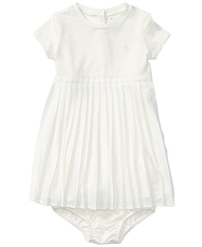 (Ralph Lauren Baby Girls Pleated Tee Dress & Bloomer Set (Nevis, 18 Months) )