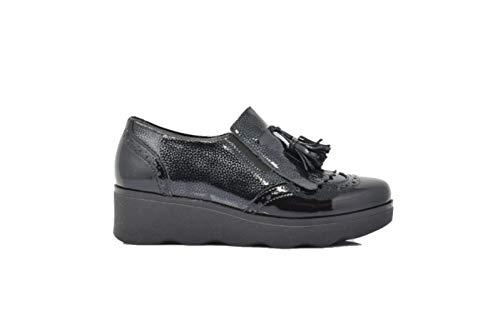 39 Laccata Inglese Sneaker Pelle Pitillos Nero OY6PTqn1