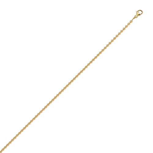 DIAMANTLY Collier or 750 forcat rond 2,1 mm - 45 cm