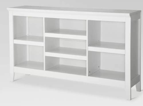 32u0022 Carson Horizontal Bookcase with Adjustable Shelves White - Threshold™