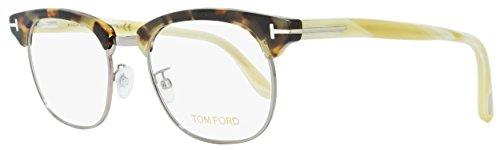 Tom Ford TFT5342 Oval Clubmaster Eyeglasses, 51, Tortoise/Ruthenium/White - Clubmaster Sunglasses Tom Ford