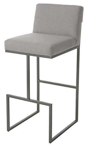 """Price comparison product image Impacterra HG210371190 Hyejeong Stool,  26"""" Counter Height,  Nickel / Buttercup"""