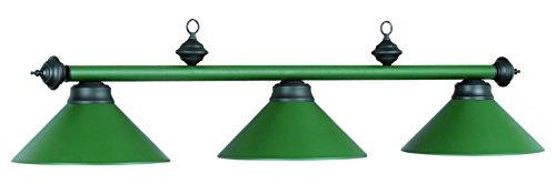 54In. 3Lt Billiard Light- Matte Green