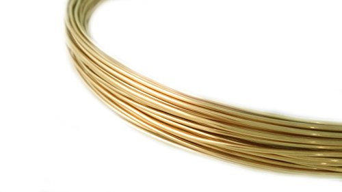 1 Ounce (49 Ft) Solid Red Brass Wire 24 Gauge, Round, Half Hard - from Craft Wire Solid Brass Wire