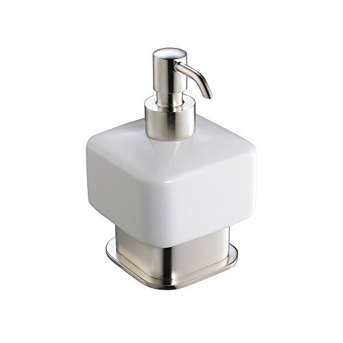 Fresca Bath FAC1361BN Solido Free Standing Lotion Dispenser, Brushed Nickel by RGM Distribution--DROPSHIP
