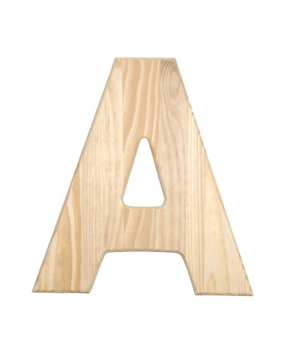 Darice 0993-A Decorative Wood, Letter A, 12-Inch