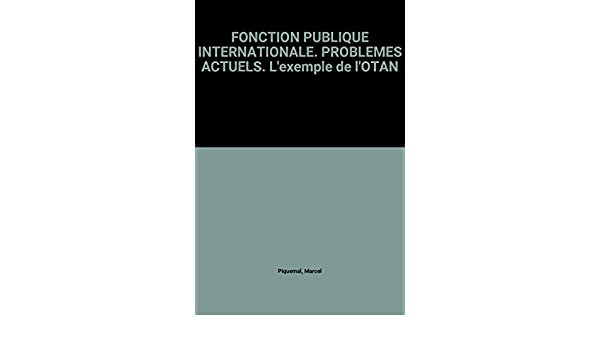 Fonction Publique Internationale Problemes Actuels L