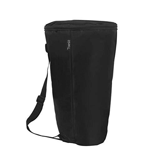 Djembe Drum Carry Case Bag Soft Gig Bag Backpack, Portable Waterproof Black Shoulder African Drum Carry Bag Backpack Musical Instrument Accessory