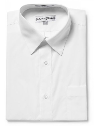 Gentlemens Collection Mens Short Sleeve Classic Fit Wrinkle Free Dress Shirt (17.5 white) ()
