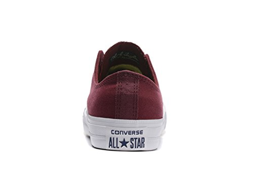Converse Unisex Low Top Chuck Taylor All Star Ii Scarpe Di Tela Deep Bordeaux