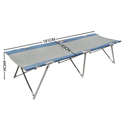 Homecall Letto pieghevole da campeggio colore grigio/blu 3 spesavip