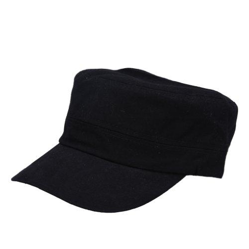 bigood-snap-back-pre-curved-bill-baseball-cap-army-ripstop-trucker-hat-black