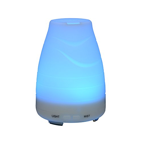 Homeweeks 100ML Auto Off Ultrasonic diffuser LED Colorful Night-Ligting Aroma Mist Maker Home&Office Essential (C)