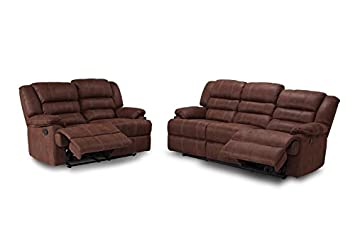 MUEBLES MATO - Sofas 3+2 plazas Burgos reclinables: Amazon ...