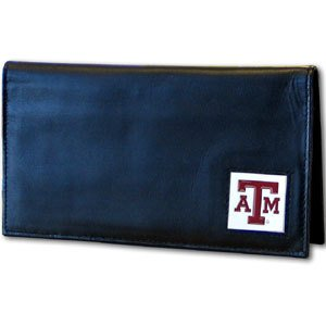 Siskiyou NCAA Texas A&M Aggies Leather Checkbook Cover ()