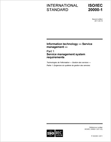 Amazon isoiec 20000 12011 information technology service isoiec 20000 12011 information technology service management part 1 service management system requirements fandeluxe Choice Image